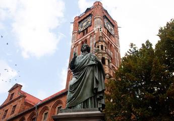 Statue of astronomer Nicholas Copernicus in Torun, Poland