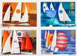 British Sailing Postage Stamps