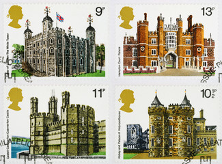 British Historic Buidlings Postage Stamps