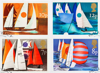 British Sailing Postage Stamps