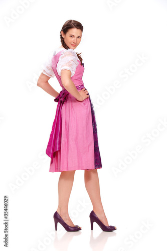 Young woman with dirndl dress 4