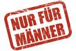 Grunge Stempel rot NUR FÜR MÄNNER