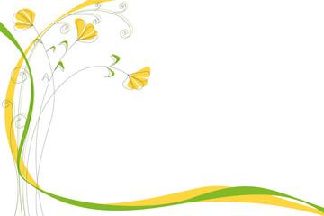 fiori gialli ghiri e nastri