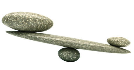 Balancing: Pebble stability scales with stones