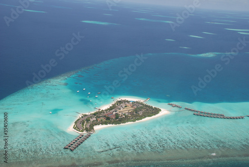Fototapeten,korallenstrand,riff,maldives,luftaufnahme