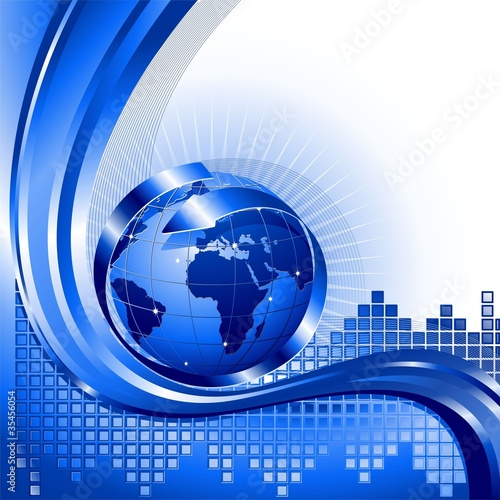 Globo Affari Internazionali-World Business Background-2-Vector