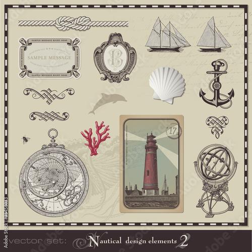nautical design elements - set 2