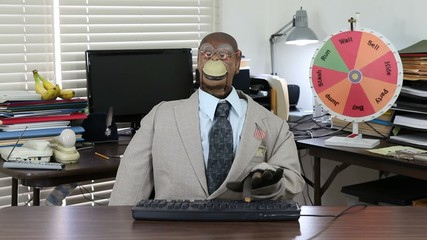 Monkey Puppet Smacks Keyboard