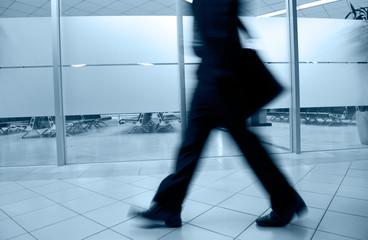 walking business people