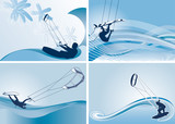 kitesurfing vector wallpapers