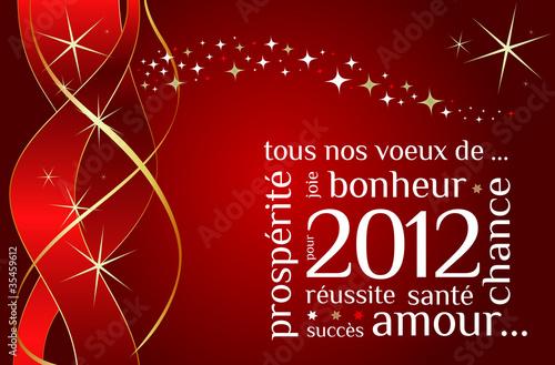 Carte de voeux nouvelle année 2012