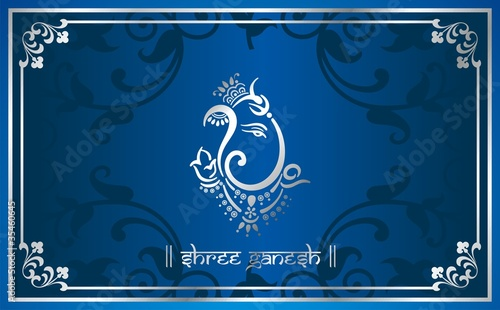 traditional hindu wedding card design. India