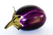 Aubergine on white background - clipping path