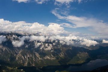 The beautiful landscape of the Julian Alps