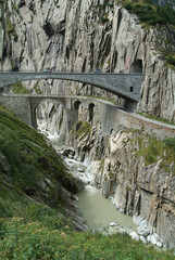 Ponte del diavolo sopra la gola di Schöllenen sul Gottardo