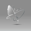 Logo Butterfly glass and metal # Vector