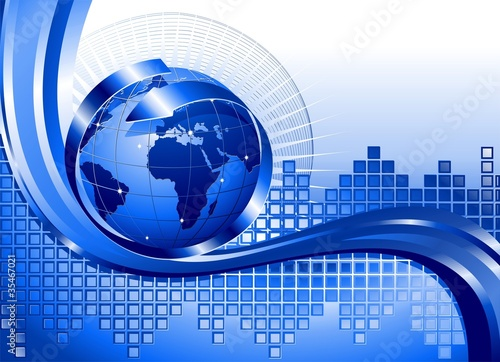 Globo Affari Internazionali-World Business Background-Vector