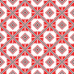 seamless embroidered good like handmade pattern