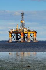 Offshore oil platform, North Scotland