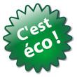 """Tampon Publicitaire """"C'EST ECO"""" (vert écologique environnement)"""