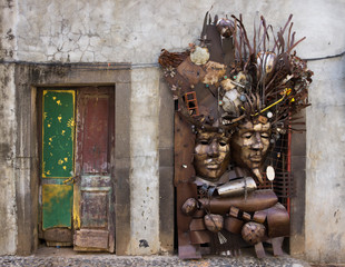 Funchal doorway art