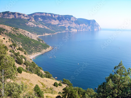 Beaches of Balaklava town, Crimea, Ukraine
