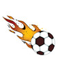 Flaming Soccerball / Futbol...vector, eps, clip art, jpeg