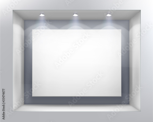 Shop window. Vector illustration. - 35474677
