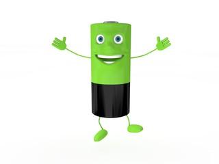 3d Rendering Batterie hüpfend