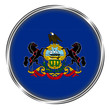 Button badge of pennsylvania