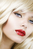 Fototapety Beautiful Blond Woman Portrait. Hairstyle. Makeup
