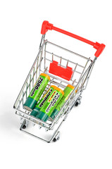 Shopping cart and battery