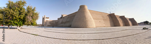 Panorama of Ark fortress walls in Bukhara, Uzbekistan