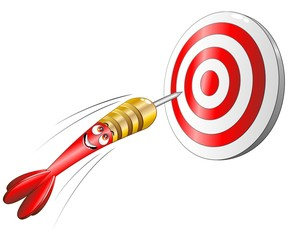 Bersaglio Freccetta Cartoon-Target Success Concept-Vector