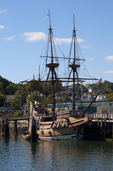 The ship the Mayflower in Plymouth in Massachusetts, USA