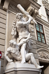The statues of Hercules in Vienna, Austria