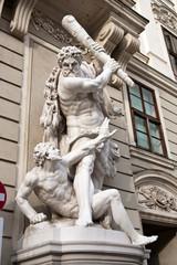 The statues of Hercules in Vienna, Austria