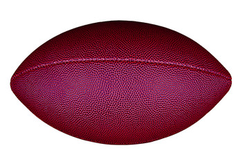 Football isolated on white.
