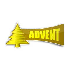 sticker weihnachtsbaum advent 1