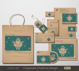 Corporate Christmas Design. Santa Clause theme.