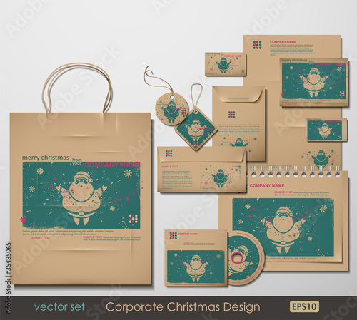 Corporate Christmas Design. Santa Clause theme.