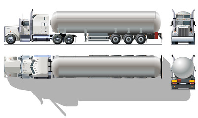 Vector detailed tanker truck