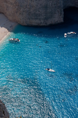 Part of Navagio ,The famous shipwreck on the Zakynthos island