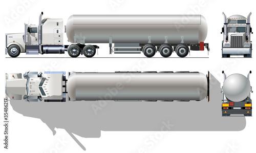 Vector detailed tanker truck