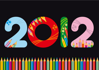 2012 colorato matite 2