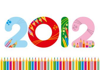 2012 colorato matite