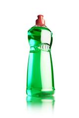 botella llena de detergente para platos