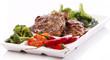 Tasty steak with vegetables