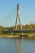 Modern bridge in Warsaw, Poland
