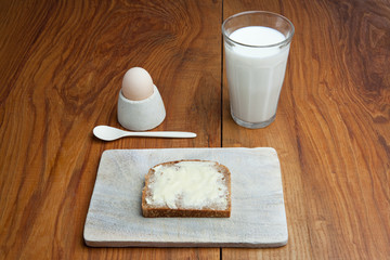 Bread, Butter, Milk And Egg